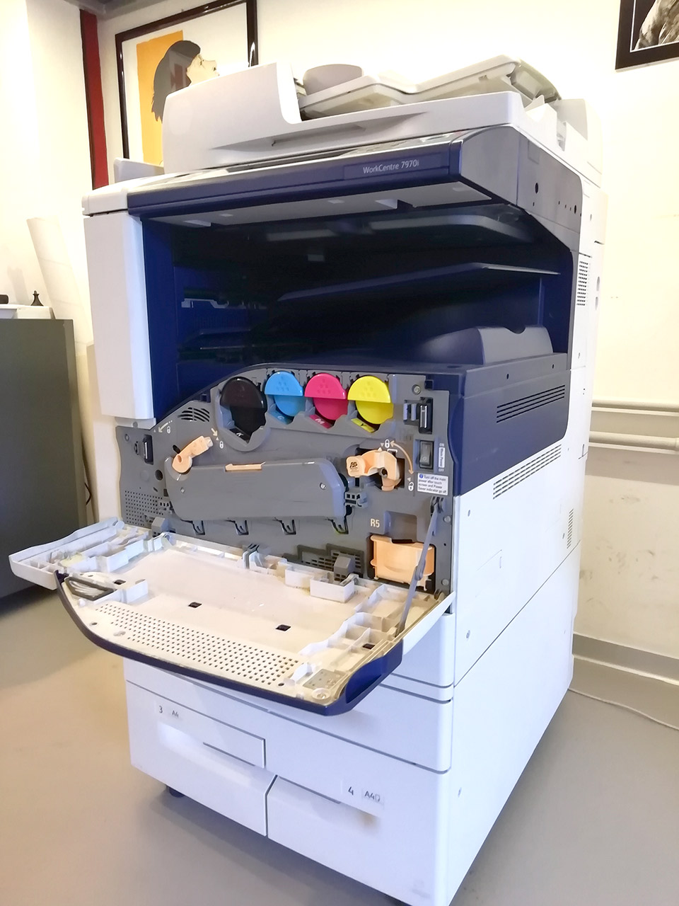 Xerox Workcentre 7970 - Vista interno
